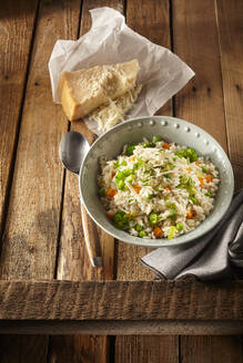 Italian Risi e bisi rice with peas - DREF00017