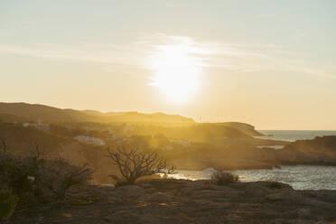 Coastline at sunset, Iboza, Spain - AFVF04859