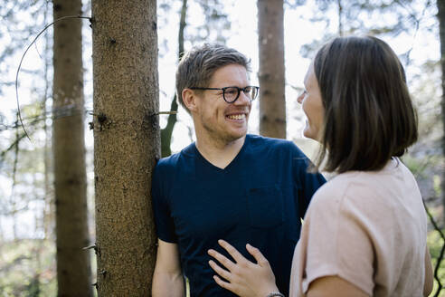Happy couple in a forest - DAWF01067