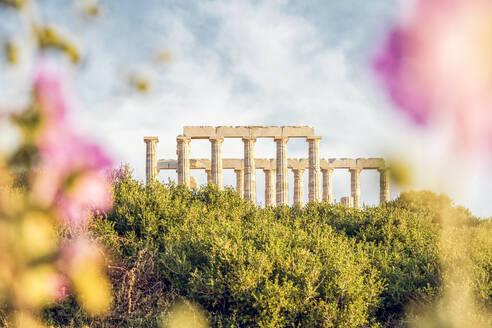 Ancient ruin of Poseidon temple, Cape Sounion, Attika, Greece - MAMF01015