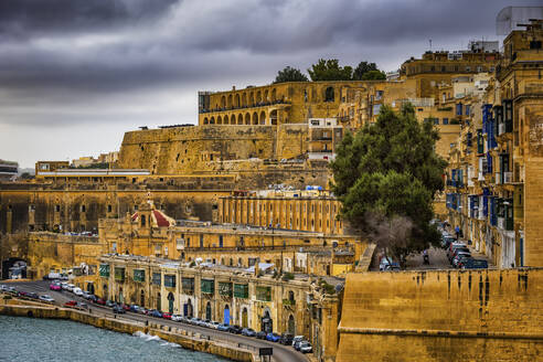 Malta, Valletta, View of old town - ABOF00459