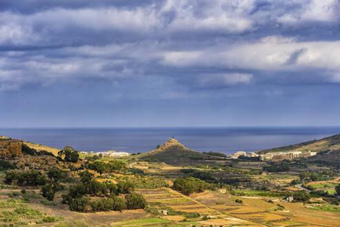 Malta, Landscape of Gozo island in the Mediterranean Sea - ABOF00501
