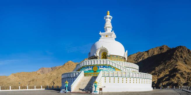 India, Jammu and Kashmir, Ladakh, Leh, Shanti Stupa - WGF01313