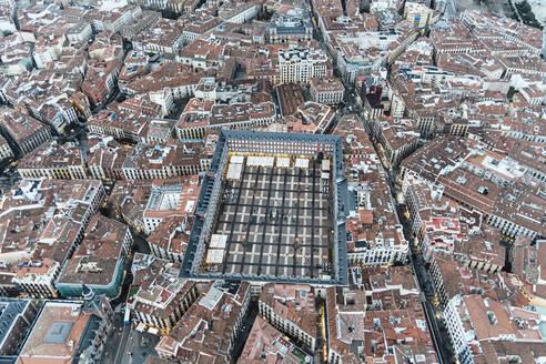 Madrid, Spain Aerial image of the Plaza Mayor. - OCMF01032