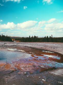 Yellowstone National Park Landscape Geysers, Hotsprings USA, Wyoming - CAVF73832