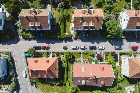 Aerial view of houses - JOHF07086