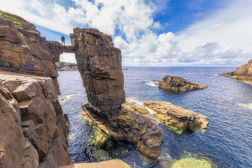 Scotland, Orkney Islands, Mainland, Yesnaby sea stacks - SMAF01800