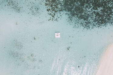 Platform in the sea, Maguhdhuvaa Island, Gaafu Dhaalu Atoll, Maldives - DAWF01215