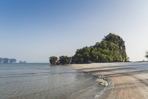 Small island seen from Noppharat Thara Beach, Ao Nang, Krabi, Thailand - CHPF00599