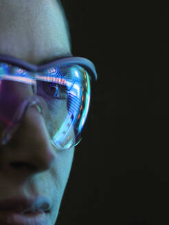 Reflection of a circuit board on glasses - ABRF00690