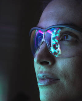 Reflection of a circuit board on glasses - ABRF00696
