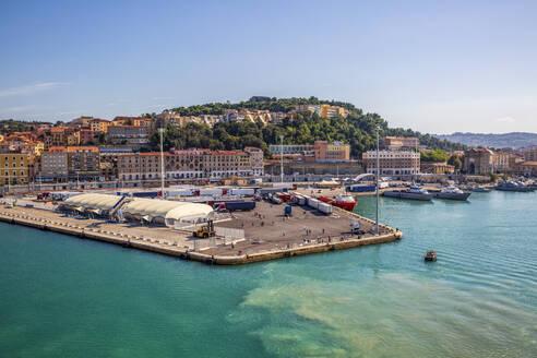 Italy, Province of Ancona, Ancona, Dock of coastal city - MAMF01195