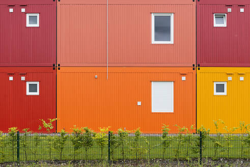 Colorful two-story container building - HBIF00057