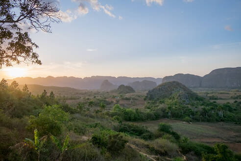 Scenics of Valle de Vinales at sunset, Pinar del Rio, Cuba - PAF01927