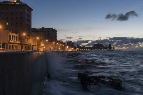 Malecon at dusk, Havana, Cuba - PAF01933