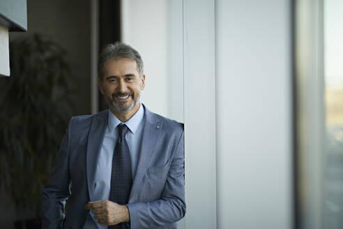 Portrait of a smiling mature businessman - ZEDF03085