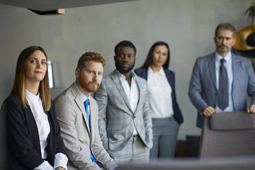Portrait of confident business team - ZEDF03088