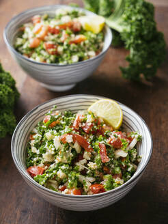 Variation of traditional tabbouleh salad with kale instead of parsley - HAWF01019