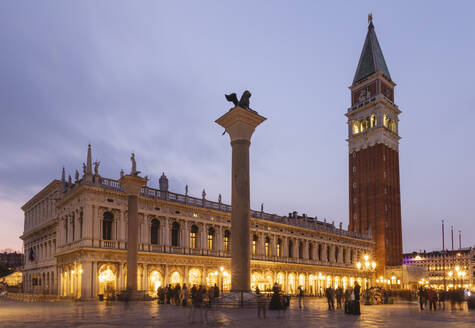 Italy, Venice, Piazza San Marco and Doges Palace at dusk - MRAF00493