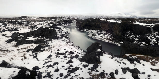 Panorama image of Godafoss waterfall, Iceland, Polar Regions - RHPLF14259