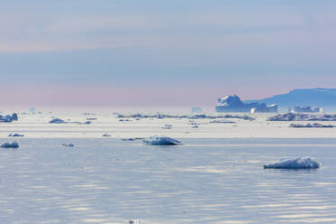 Polar ice melting on tranquil Atlantic Ocean Greenland - HOXF05786