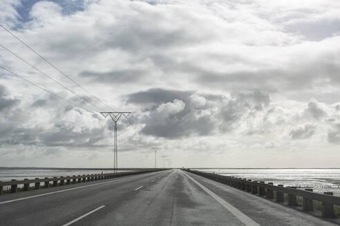 Denmark, Romo, White clouds over Romodamm highway - ASCF01190