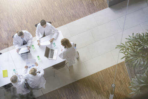 Female doctors having a meeting in conference room - BMOF00373