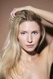 Portrait of beautiful blond woman - PNEF02489