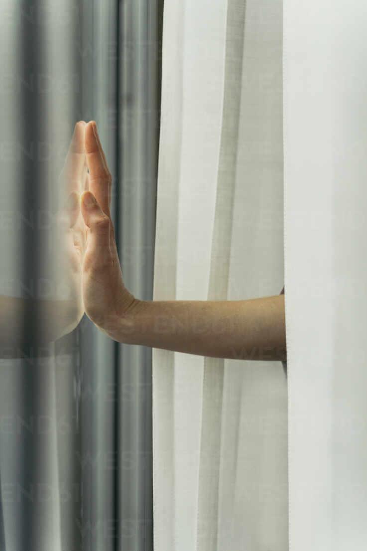 Hand of a woman touching windowpane - AFVF05959 - VITTA GALLERY/Westend61