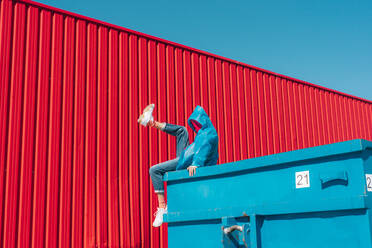 sevilla, Spain, container, urban, industrial, outdoor, minimal, youth, freedom, fun, color - ERRF03146