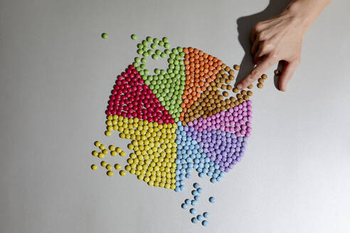 Hand and colorful pie chart - RBF07555