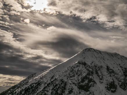 Spain, Snowcapped peak in Pyrenees - JMF00493
