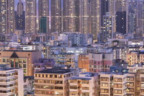 Apartment blocks, Kowloon, Hong Kong, China, Asia - RHPLF14567