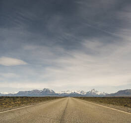 Landscape and empty road in Patagonia, Argentina - UUF20282
