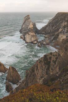 Rock formations and sea at Ursa Beach, Lisboa Region, Portugal - FVSF00336