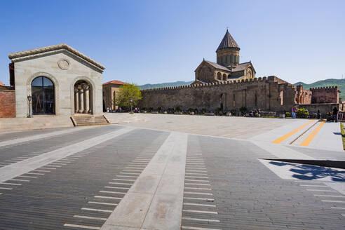 Georgia, Mtskheta-Mtianeti, Mtskheta, Empty square in front of Samtavro Monastery - WVF01753