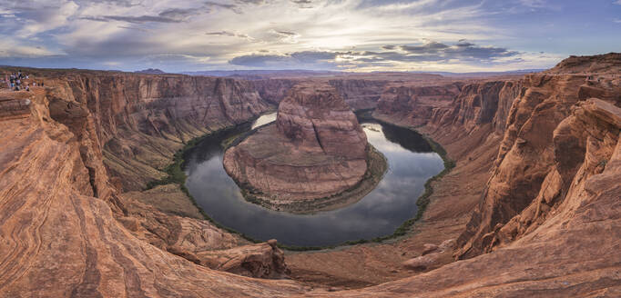 Horseshoe bend in panoramic view at sunset - CAVF84227