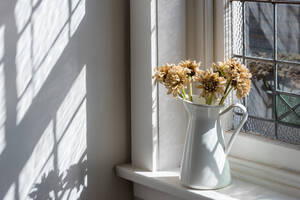 Close-Up Of Flower Vase On Window Sill - EYF05774