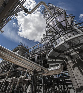 Natural gas processing plant structures with blue sky - CAVF85438
