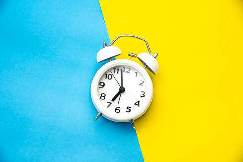 Close-Up Of Clock On Colored Background - EYF06574