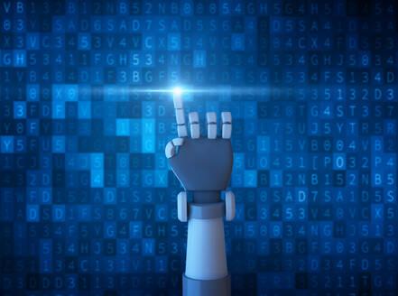 Digital Composite Image Of Robot Hand - EYF06644