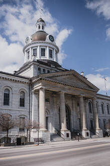 Kingston City hall building on an empty street on spring day. - CAVF85559