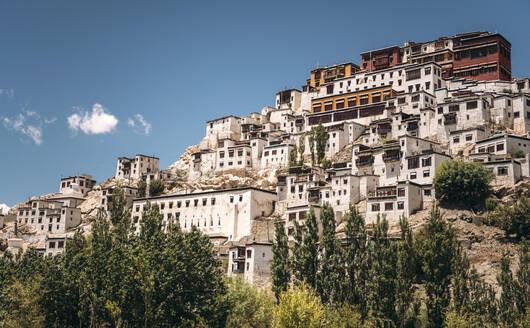 India, Ladakh, Thiksey, HillsideThikse Monastery - EHF00476