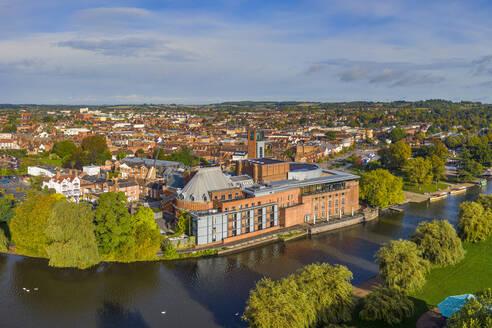 The Royal Shakesphere Theatre and Swan Theatre on the River Avon, Stratford-upon-Avon, Warwickshire, England, United Kingdom, Europe - RHPLF15376