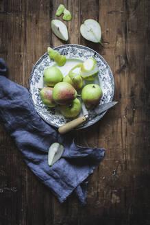 Juicy pears on plate - ADSF08673