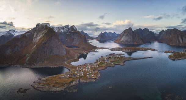 Panoramic view of the mountains and islands around lofoten - CAVF88005