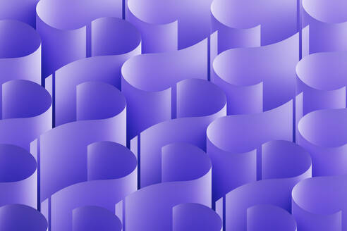 Abstract background with a pattern made of purple question marks, 3D Illustration - DRBF00180