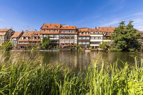 Deutschland, Bayern, Franken, Bamberg, Altstadt, Regnitz, Klein Venedig, ehemalige Fischerhäuser - WDF06145