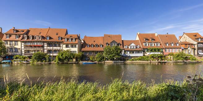 Deutschland, Bayern, Franken, Bamberg, Altstadt, Regnitz, Klein Venedig, ehemalige Fischerhäuser - WDF06148