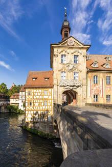 Deutschland, Bayern, Franken, Bamberg, Altstadt, Regnitz, Obere Brücke, Altes Rathaus - WDF06166